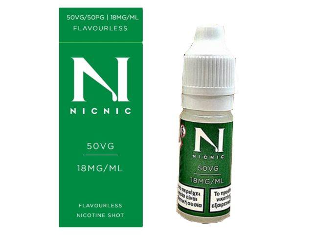 9180 - Βάση NICNIC 50%VG+50%PG 18mg νικοτίνη 10ml