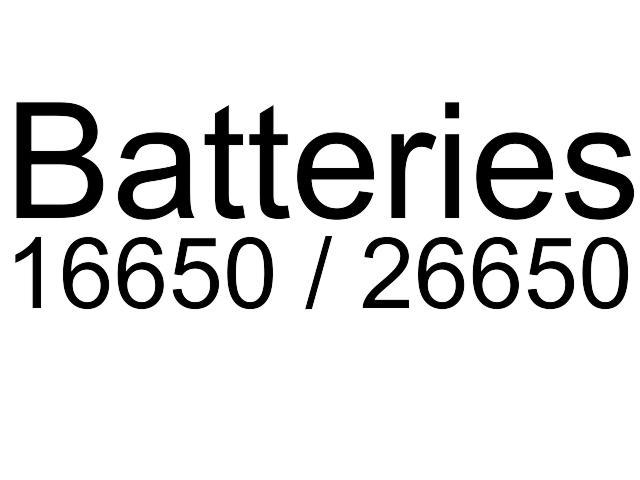 Μπαταρίες 18650 /21700 / 26650