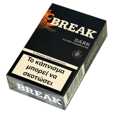 5250 - Cigarillos BREAK DARK Filter 17 (μαύρο)