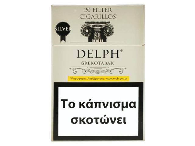 11223 - Cigarillos DELPH GREKOTABAK Silver Filter 20