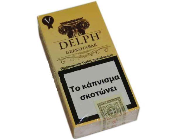10646 - Cigarillos DELPH GREKOTABAK V κίτρινο Filter 10