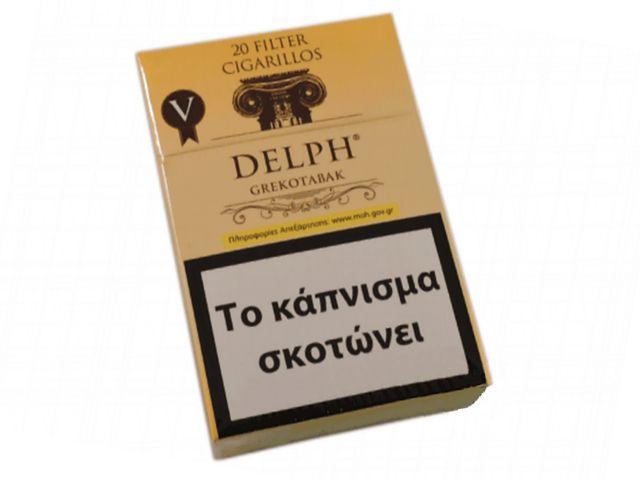 10648 - Cigarillos DELPH GREKOTABAK V κίτρινο Filter 20