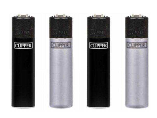 CLIPPER 104305535 MICRO BLACK SILVER METAL SMALL αναπτήρας