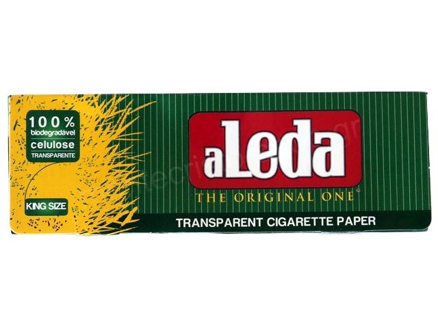 3051 - Διάφανα χαρτάκια στριφτού aLeda THE ORIGINAL ONE Πράσινα King Size