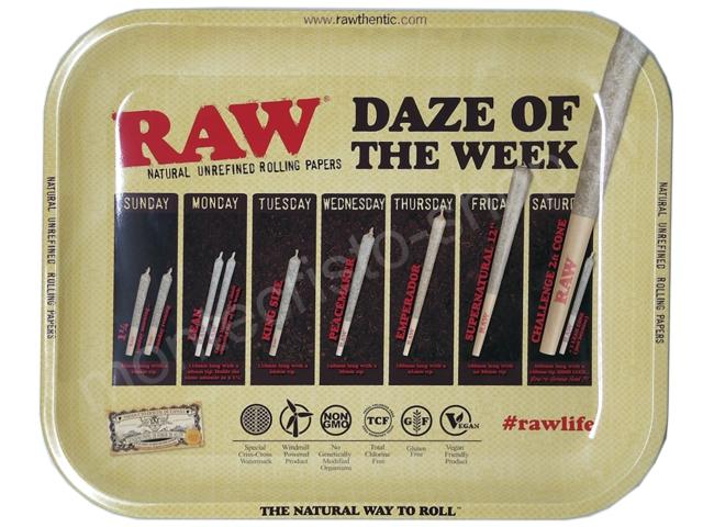 7838 - Δίσκος RAW DAZE OF THE WEEK METAL ROLLING TRAY 13345 ΔΙΣΚΟΣ ΓΙΑ ΣΤΡΙΦΤΟ
