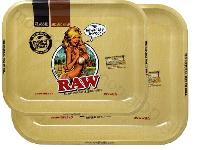 7195 - Δίσκος RAW MIX METAL ROLLING TRAY Raw Girl 13333 ΔΙΣΚΟΣ ΓΙΑ ΣΤΡΙΦΤΟ