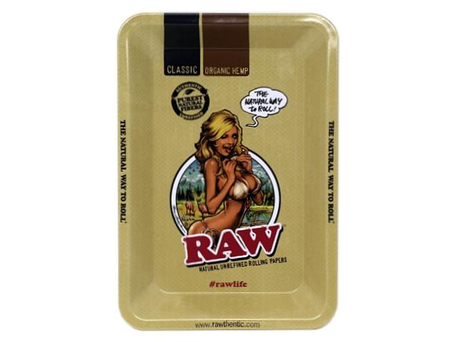 9741 - Δίσκος RAW MIX METAL ROLLING TRAY Raw Mini Girl 13795 ΔΙΣΚΟΣ ΓΙΑ ΣΤΡΙΦΤΟ