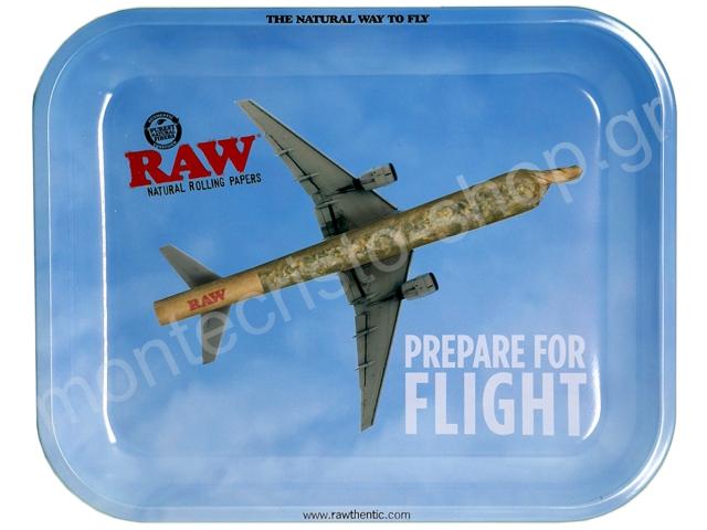 7839 - Δίσκος RAW PREPARE FOR FLIGHT METAL ROLLING TRAY LARGE 13344 ΔΙΣΚΟΣ ΓΙΑ ΣΤΡΙΦΤΟ
