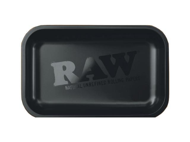 11722 - Δίσκος στριφτού RAW BLACK MATTE METAL ROLLING TRAY SMALL