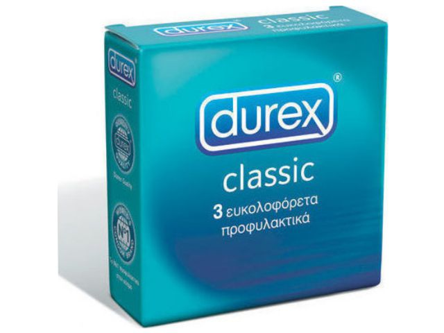 10840 - DUREX CLASSIC (3 ΠΡΟΦΥΛΑΚΤΙΚΑ) ΜΕ ΛΙΠΑΝΤΙΚΟ