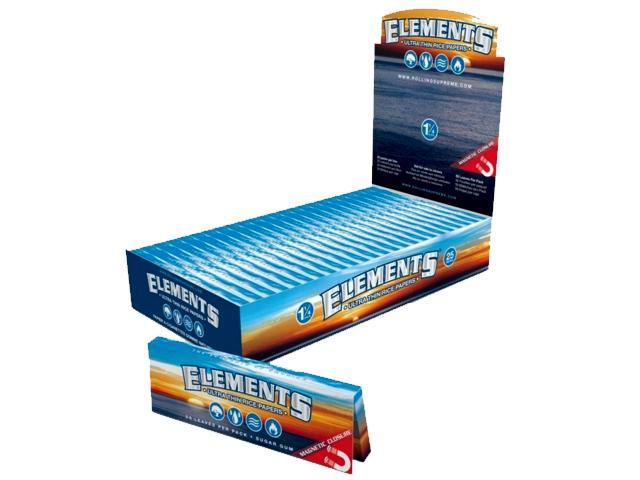 Elements rice paper ultra thin 1 1/4, μεσαίο με μαγνήτη, €0.38 το χαρτ, κουτί 25 τεμ