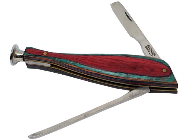 7163 - Εργαλείο για πίπα καπνού Rolling 46207-100 RED GREEN (Solingen ανοξείδωτο ατσάλι)