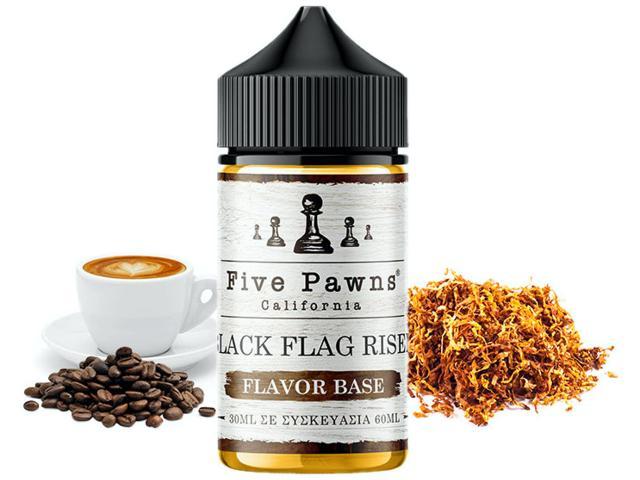 11195 - Five Pawns flavour shot BLACK FLAG RISEN MNV 30/60ml (καπνικό VIRGINIA με καπουτσίνο)