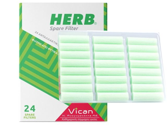 Herb Spare Filter 24 Ανταλλακτικά Φίλτρα Πίπας Τσιγάρου