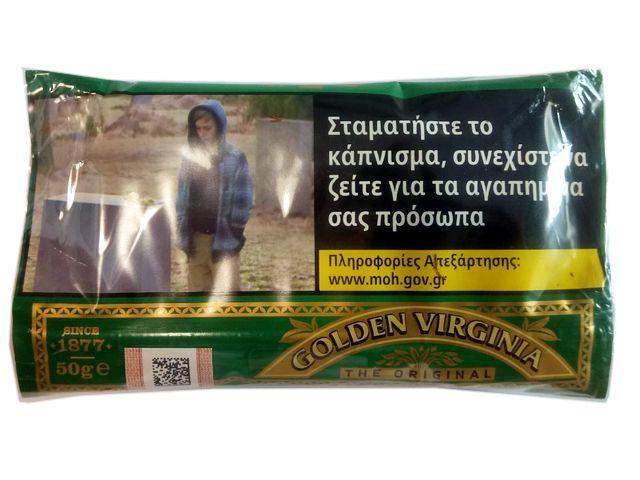10591 - Καπνός στριφτού Golden Virginia, πράσινος, 50gr