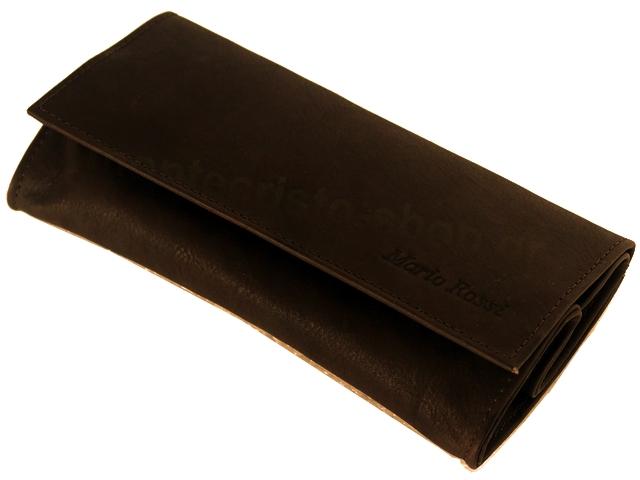 3222 - Καπνοσακούλα Mario Rossi απο γνήσιο καφέ δέρμα μεγάλη με Latex 827-06 BR δερμάτινη καπνοθήκη