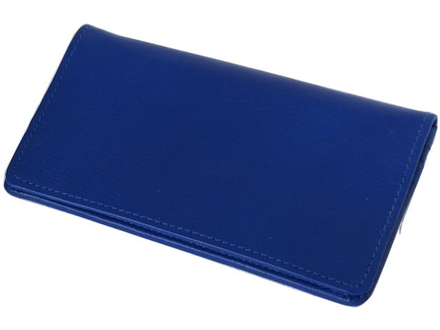 Καπνοσακούλα Rolling 44402-120 από γνήσιο δέρμα (μπλε με τρία φερμουάρ για σακουλάκι ή χύμα καπνό) δερμάτινη