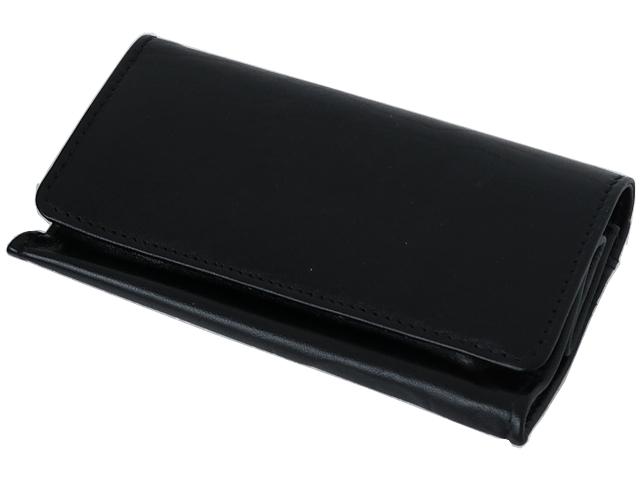 5587 - Καπνοσακούλα Rolling 44425-000 από γνήσιο δέρμα (μαύρο μεγάλο πουγκί) δερμάτινη