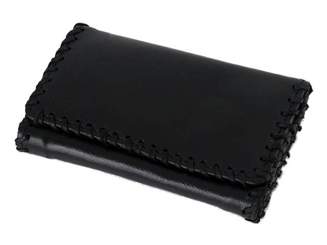 995 - Καπνοθήκη του παππού Rolling 44438-010 από γνήσιο δέρμα (μαύρη μεσαία) δερμάτινη