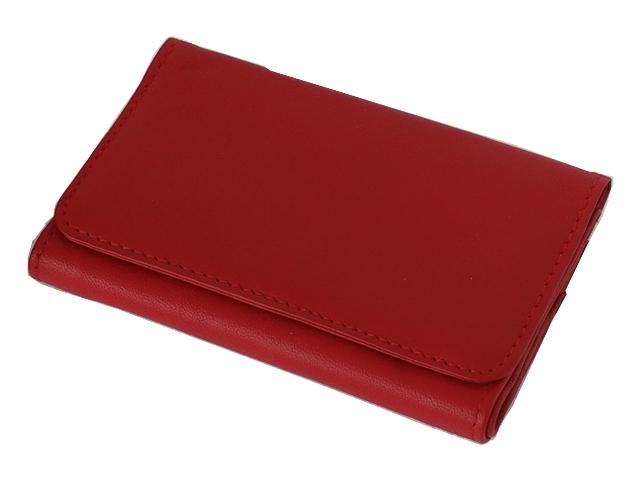 5581 - Καπνοσακούλα Rolling 44438-165 από γνήσιο δέρμα (κόκκινη μεσαία) δερμάτινη