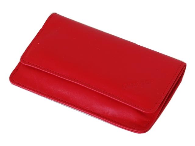 5359 - Καπνοθήκη από γνήσιο δέρμα Over Top 9913 RED (μεσαία) δερμάτινη