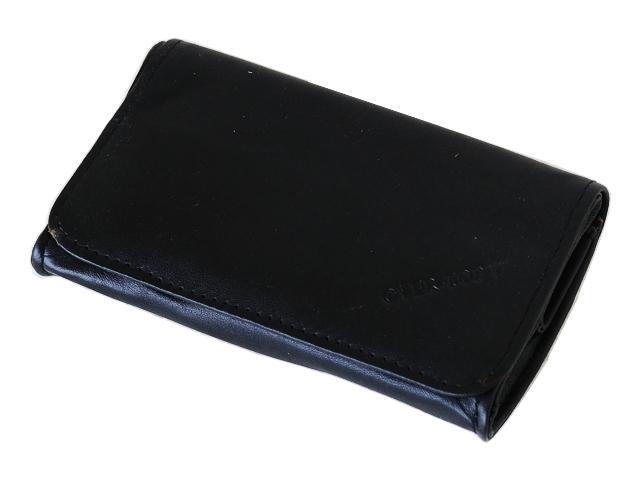 5367 - Καπνοθήκη από γνήσιο δέρμα Over Top 9951 ZM BLACK (μεσαία - πουγκί) δερμάτινη