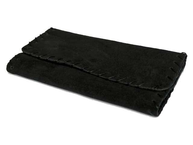 2492 - Καπνοθήκη δερμάτινη Smoka 800 σουέτ μαύρη για σακουλάκι καπνού