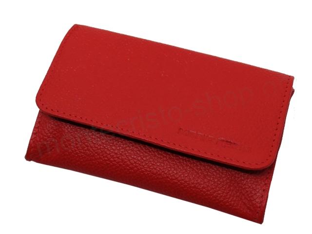 6844 - Καπνοθήκη Mario Rossi 325-06 RED δερμάτινη