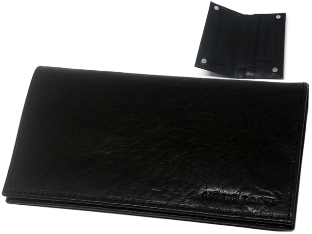 9660 - ΚΑΠΝΟΘΗΚΗ MARIO ROSSI 602-11 BK OIL PULL UP γνήσιο δέρμα μαύρη λαδί (με 3 φερμουάρ) δερμάτινη