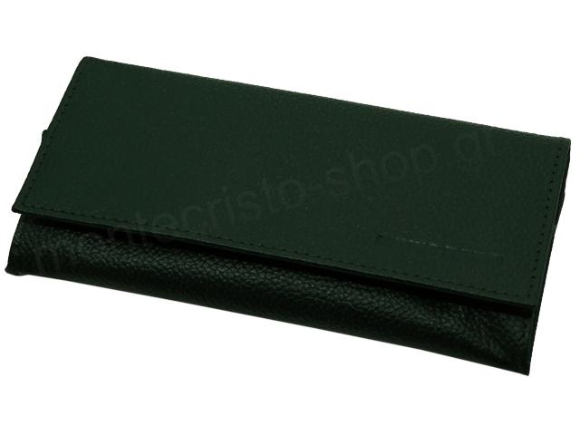 6843 - Καπνοθήκη Mario Rossi 827-06 GREEN δερμάτινη