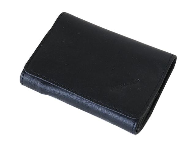 5398 - Καπνοθήκη από γνήσιο δέρμα Over Top 10025 Z BLACK (μικρή με διπλό άνοιγμα) δερμάτινη