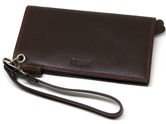 10437 - Καπνοθήκη ZIPPO 2006029 Brown Leather δερμάτινη με latex