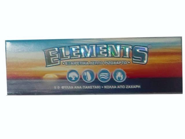 632 - Χαρτάκι ELEMENTS, μικρό, εξαιρετικά λεπτό ριζοχαρτο, 50 φύλλα