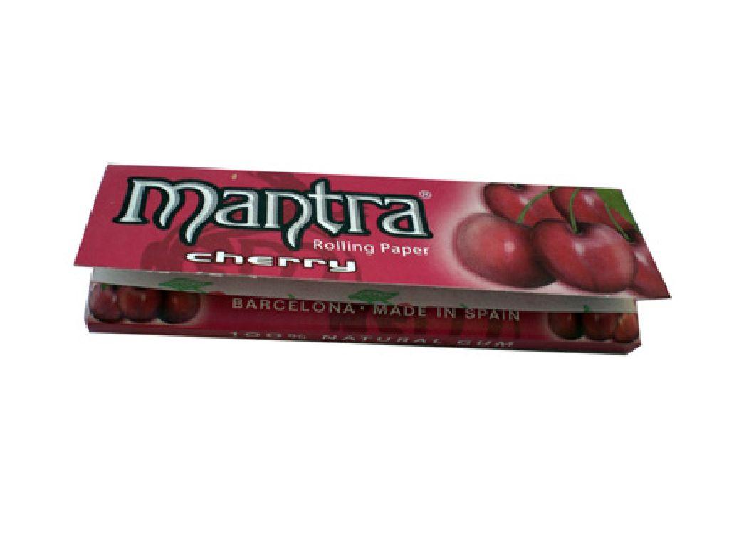 Χαρτάκια 1 και 1/4 MANTRA CHERRY made in Spain, 50τεμ