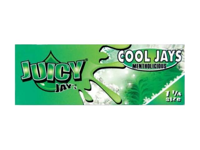 10019 - Χαρτάκια αρωματικά Juicy Jays COOL JAYS MENTOLICOUS ΜΕΝΤΑ 1 1/4