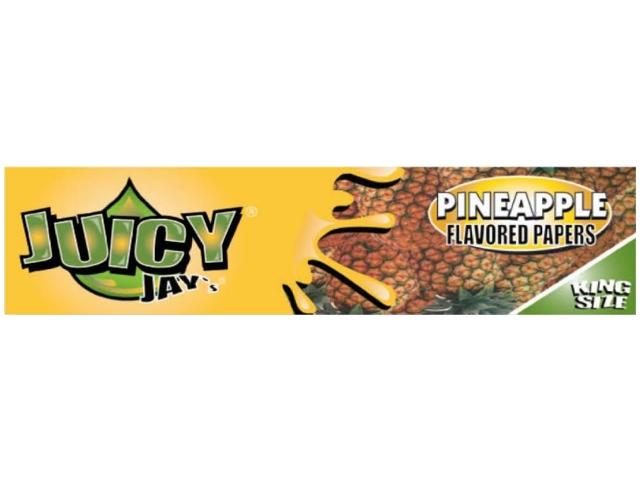 10049 - Χαρτάκια αρωματικά Juicy Jays PINEAPPLE ΑΝΑΝΑΣ KING SIZE