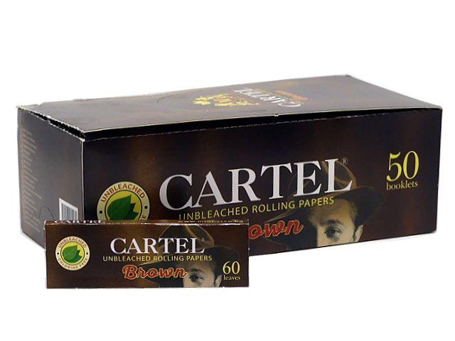 10917 - Χαρτάκια CARTEL BROWN 60 φύλλα ΑΚΑΤΕΡΓΑΣΤΑ (κουτί των 50)