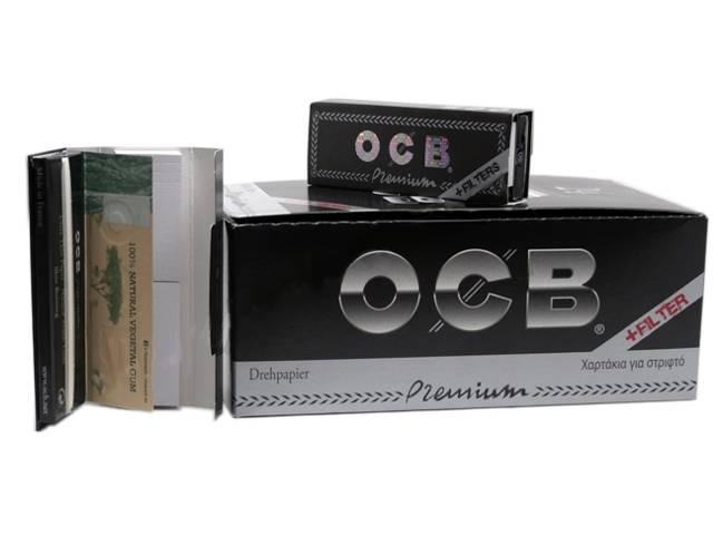 8534 - Χαρτάκια OCB PREMIUM 1 & 1/4 + FILTER TIPS με τζιβάνες (κουτί 24 τεμ)