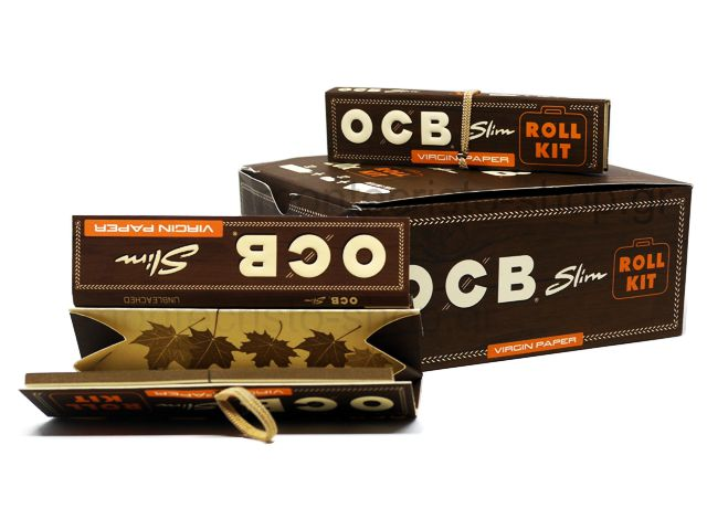 10913 - Χαρτάκια OCB VIRGIN King Size Slim ROLL KIT Unbleashed (κουτί των 20)