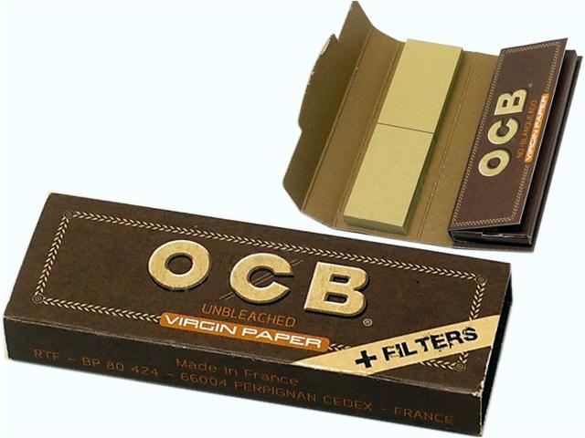 8948 - Χαρτάκια OCB VIRGIN PAPER + FILTER TIPS 1 & 1/4 (με τζιβάνες)