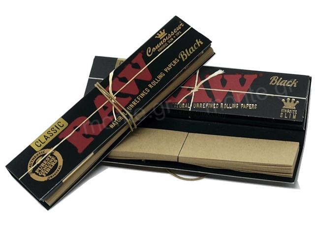 11217 - Χαρτάκια RAW BLACK KS SLIM + TIPS με ΤΖΙΒΑΝΕΣ Classic