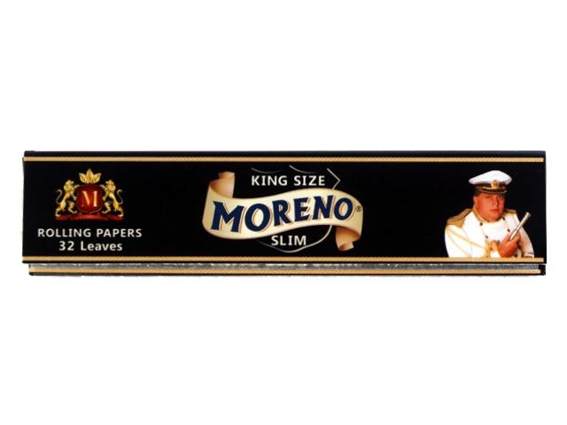 3196 - Χαρτάκια στιφτού MORENO Black KING SIZE SLIM