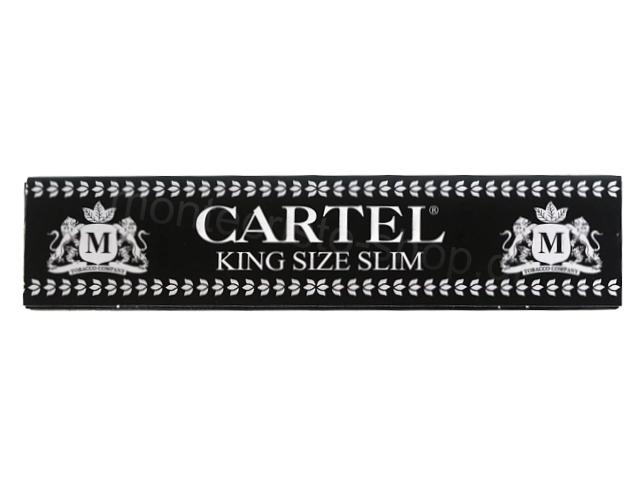 Χαρτάκια στριφτού Cartel Black King Size Slim 14gsm