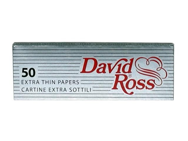 7304 - Χαρτάκια στριφτού David Ross Extra Thin (silver)