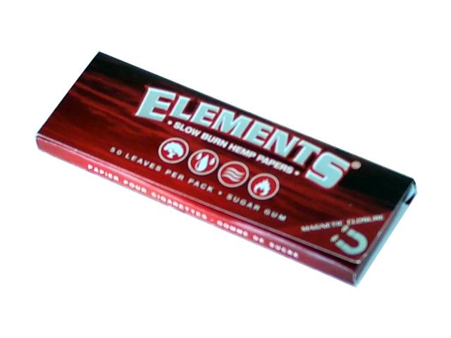 5086 - Χαρτάκια στριφτού ELEMENTS RED 1,1/4 SLOW BURN HEMP PAPERS (με μαγνήτη)