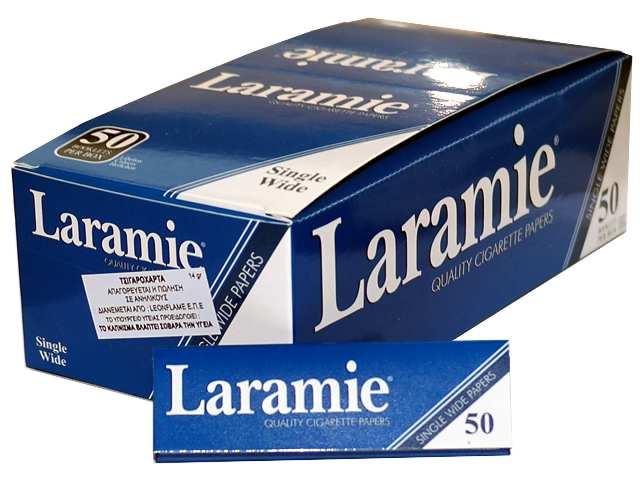2321 - Χαρτάκια στριφτού Laramie Μπλε κουτί με 50 τσιγαρόχαρτα