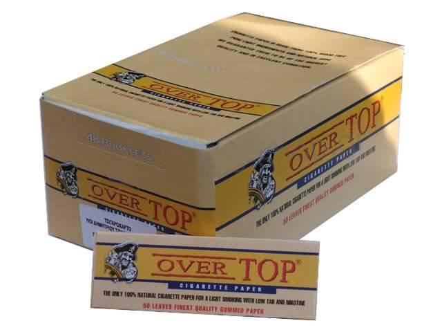 2564 - Χαρτάκια στριφτού Over Top κίτρινα (Κουτί με 48 τσιγαρόχαρτα)