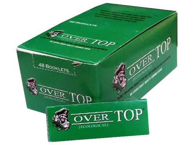 2568 - Χαρτάκια στριφτού Over Top πράσινα (Κουτί με 48 τσιγαρόχαρτα)
