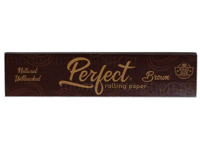 10814 - Χαρτάκια στριφτού Perfect Brown KING SIZE Natural Unbleaced Ακατέργαστο