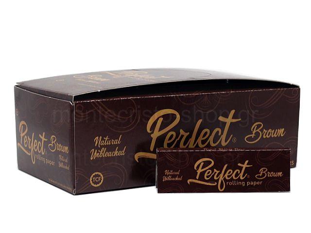 10813 - Χαρτάκια στριφτού Perfect Brown Natural Unbleaced Ακατέργαστο (κουτί των 50)